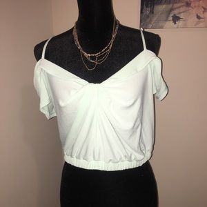 Express Cold Shoulder Crop Top